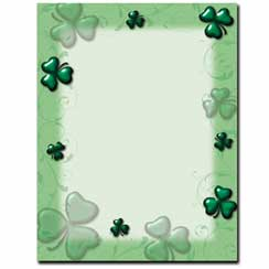 Shamrocks & Swirls Letterhead - 100 pack