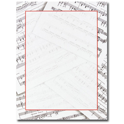 Sheet Music Letterhead - 25 pack
