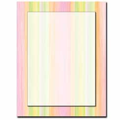 Sherbert Stripes Letterhead - 100 pack