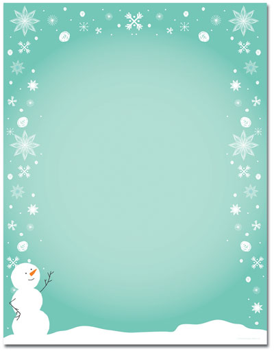 Silly Snowman Letterhead - 25 pack