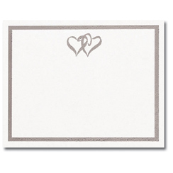 Silver Double Hearts Post Cards