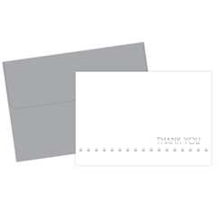 Silver Lotsa Dots Thank You Note Cards