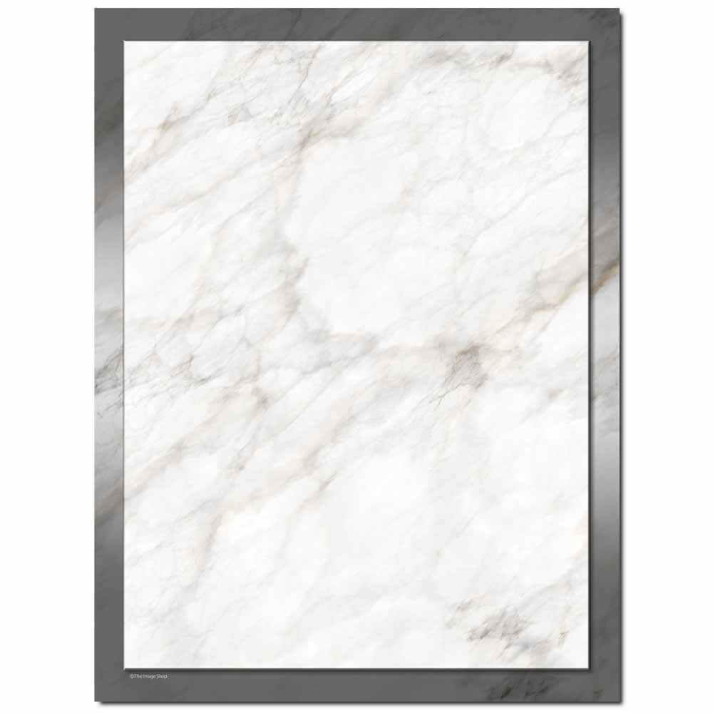 Silver Marble Letterhead - 100 pack