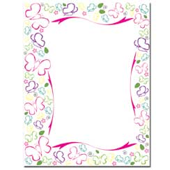 Sketched Butterflies Letterhead - 25 pack