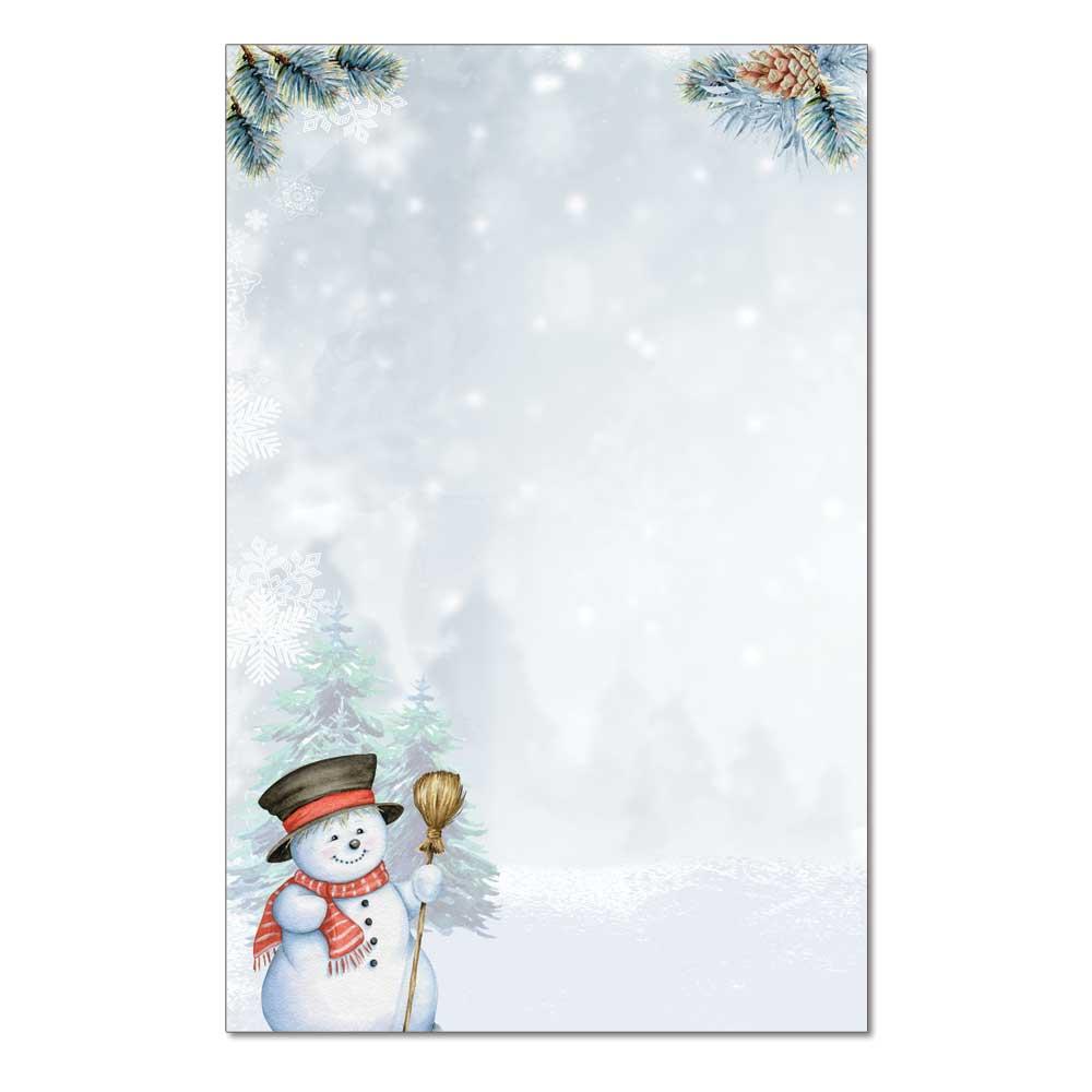 Smiling Snowman Jumbo Card, 48pk