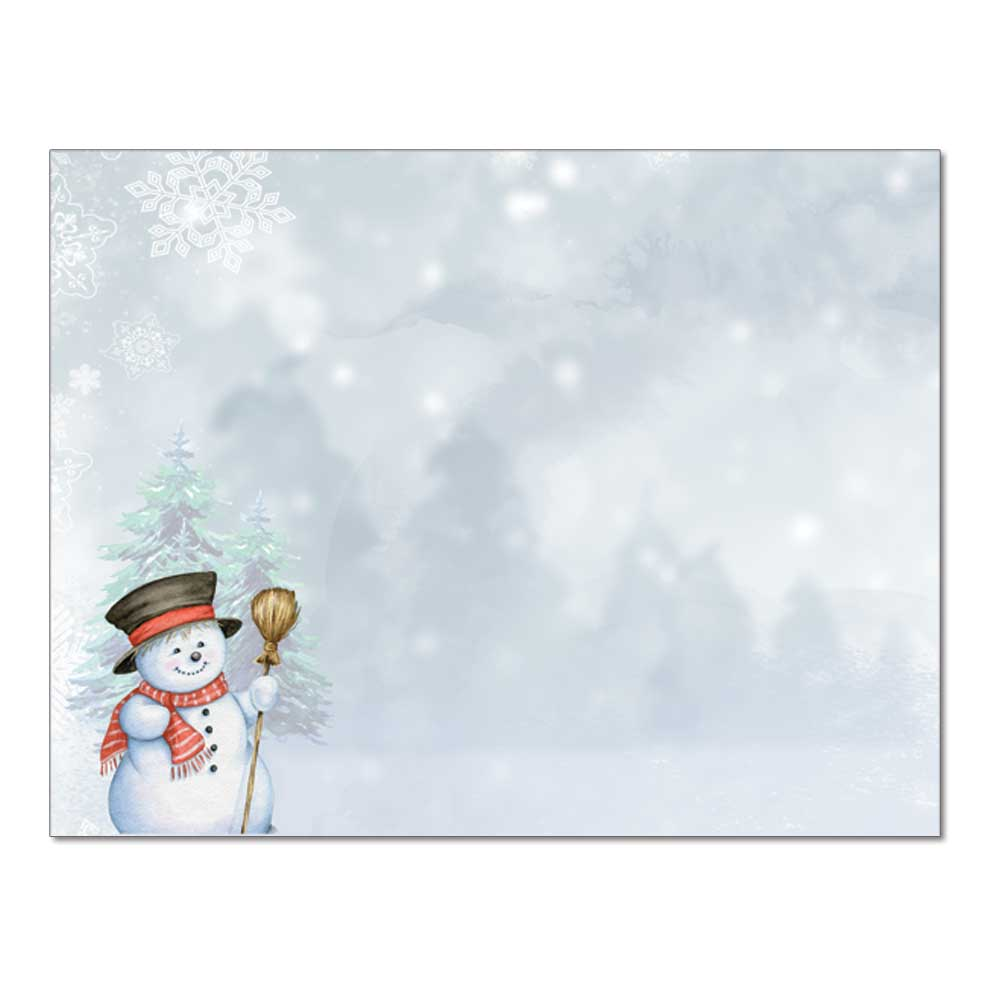 Smiling Snowman Post Card, 48pk