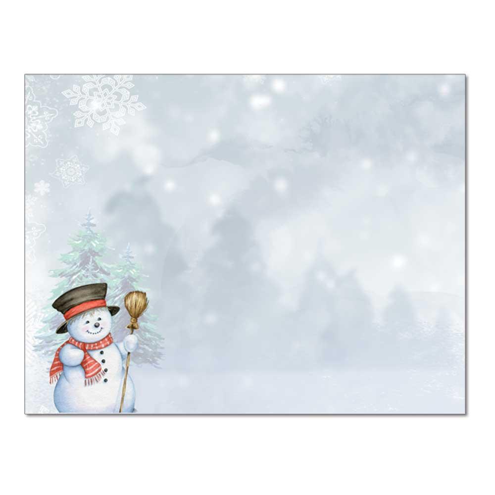 Smiling Snowman Post Card, 48pk