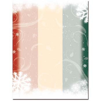 Snow Flurry Letterhead