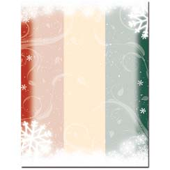 Snow Flurry Letterhead - 25 pack