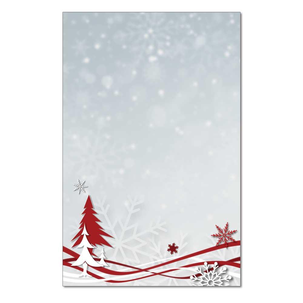 Snowflakes & Ribbon Jumbo Cards, 48pk