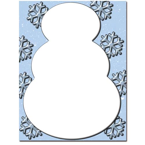 Snowman-Snowflakes-WInter-Holiday-Letterhead-Paper