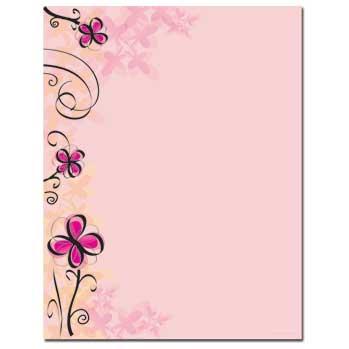 Soft Floral Letterhead