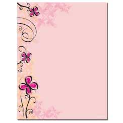 Soft Floral Letterhead - 100 pack