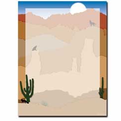Southwest Sunrise Letterhead - 25 pack
