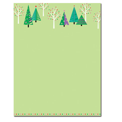 Sparkling Trees Letterhead - 80 pack