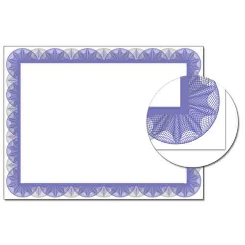 Blue Spiral Certificate