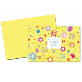 Spring Flowers Thank You Note Card