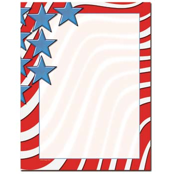 Star Spangled Banner Letterhead