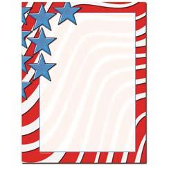 Star Spangled Banner Letterhead - 25 pack