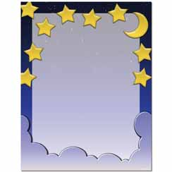 Starry Night Letterhead - 25 pack