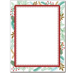 Stitched Holly Letterhead - 100 pack