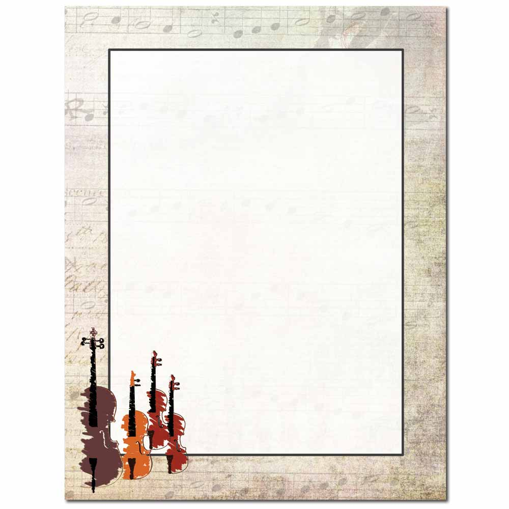 String Quartet Letterhead - 100 pack