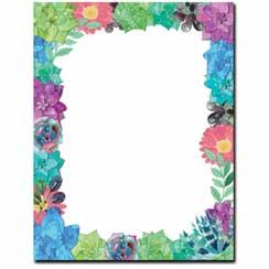 Succulent-Floral-Border-Paper