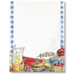 Summer BBQ Letterhead - 80 pack