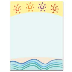 Summer Suns Letterhead - 25 pack
