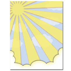 Sun Shiny Day Letterhead - 100 pack