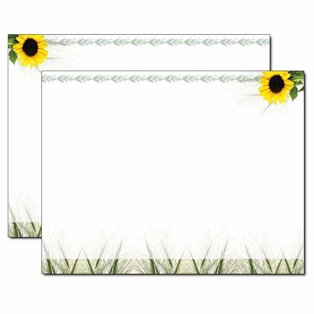 Sunflower Trifold Brochure