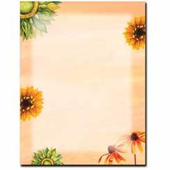 Sunny Flowers Letterhead - 25 pack