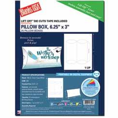Pillow Box Die Cut W/Tape