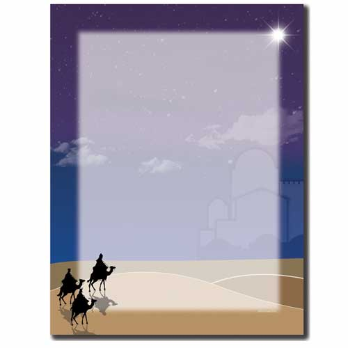 Three-Wisemen-Christmas-Nativity-Letterhead