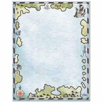 Treasure Map Letterhead