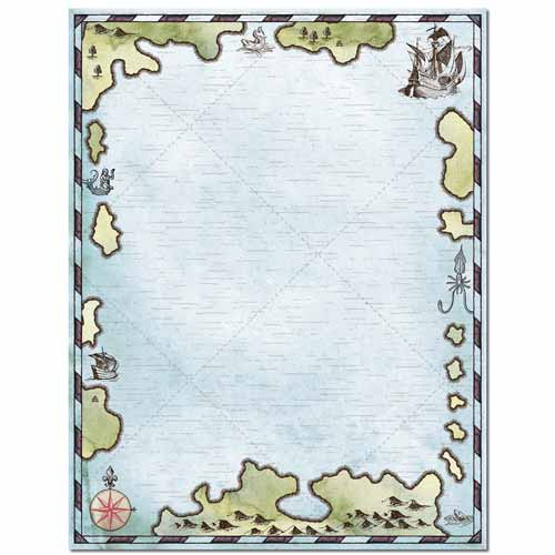Treasure Map Letterhead