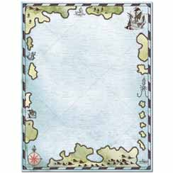 Treasure Map Letterhead - 25 pack