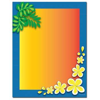 Tropical Paradise Letterhead