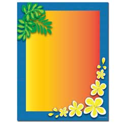 Tropical Paradise Letterhead - 100 pack