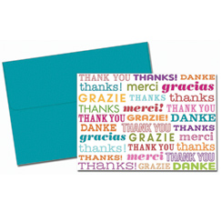 Type Set Thank You Note Cards