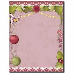 Victorian Holiday Letterhead - 25 pack