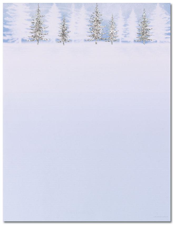 Winter Treeline Letterhead