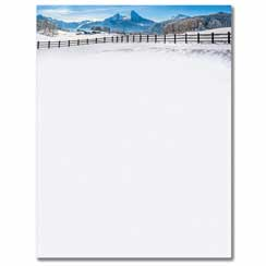 Winter Fence Letterhead - 80 Pack