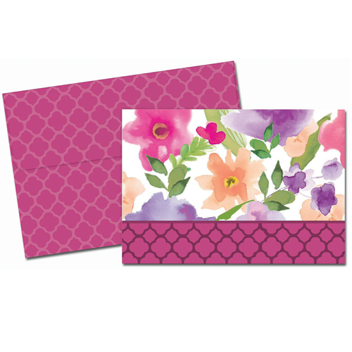 Watercolor Flora Thank You Note Card