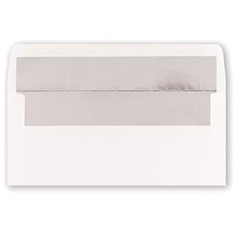 White Silver Foil Env. 25pk.