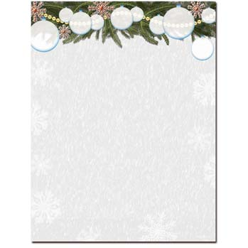 White Christmas Stationery Letterhead | The Image Shop