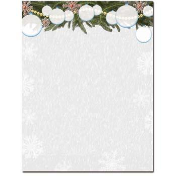 White Christmas Letterhead