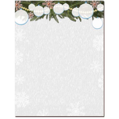 White-Christmas-Letterhead-Paper