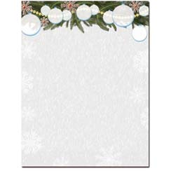 White Christmas Letterhead - 100 pack
