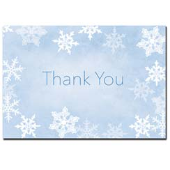 Winter Flakes Thank You Note Card
